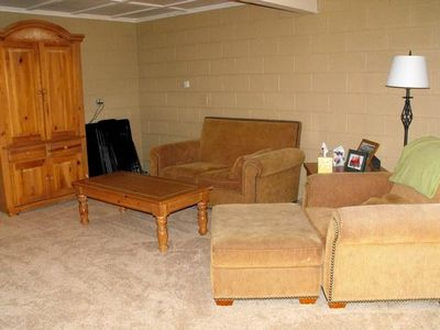 Pine cabin rental - The lower floor armoire has games and books plus a TV/DVD and more...