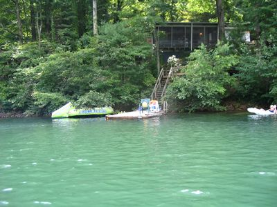 Lake Santeetlah cottage rental - View of the cottage...