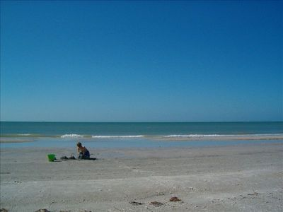 Madeira Beach condo rental - The pristine beach, right across the street, is great for sandcastle building