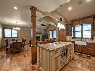 Kitchen with Dining Area and Family Room