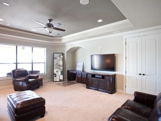 Lago Vista house photo - Upstairs Media and Entertainment room with a 7.1 sound system and sofa sleeper