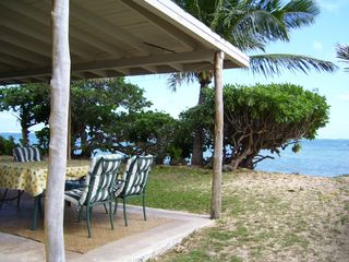 Kaaawa house photo - Large Lanai (Patio) Overlooking the Ocean