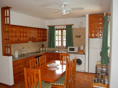 Kitchen & dining area of a 2 bedroom villa