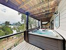 Hot Tub - When the sun goes down, soak in the private hot tub and watch the deer.