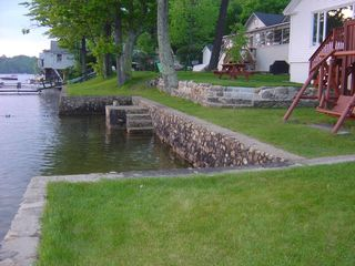 Newfound Lake cottage photo - Steps to swimming area