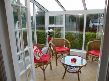 The light and airy conservatory