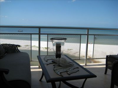 Fort Myers Beach condo rental - Watch dolphins swim by and view breathtaking sunsets from this gulf-front lanai