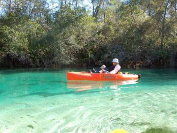kayak and canoe rentals are available- go exploring on the Weeki Wachee River