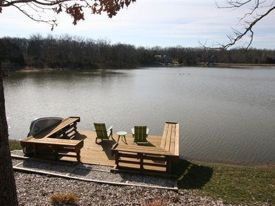 Sit on the private dock with beautiful views.