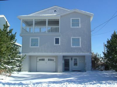 Brant Beach house rental - Plenty of off-street parking. Large screened-in porch with ocean & bay views!