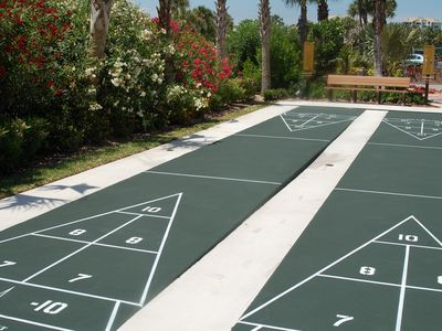 5 Shuffleboard Courts, some right next to the Pool and the Basketball Court