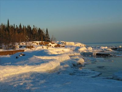 Grand Marais Harbor winter