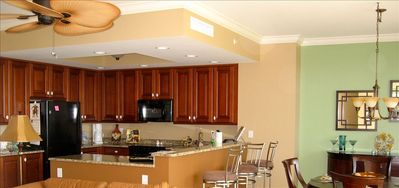 Beautiful Cherry Wood Cabinets, Granite Counter, Fully Stocked Kitchen