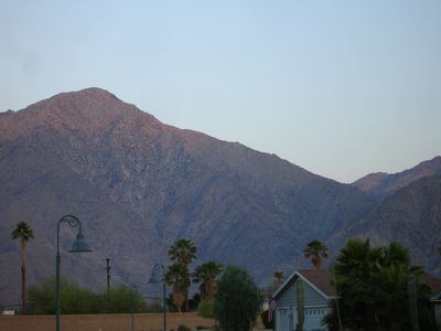 Local mountain, called San Ysidro peak. In the winter, often there is snow.