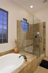 Master Bathroom has shower and tub.