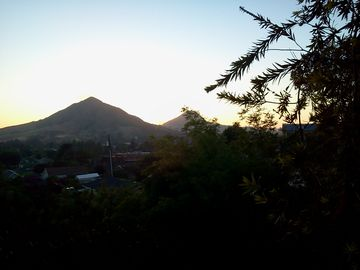 San Luis Obispo house rental - A typical sunset from the back/top of the property