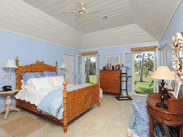Master bedroom with ocean views and garden views