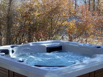 Private hot tub beside spring run off, Teton Creek.
