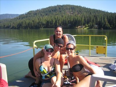 Pontoon boat rental on Fish Lake (5 min. from house)