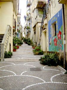 "Diamante apartment rental - Walking through the ""centro storico"" of Diamante."