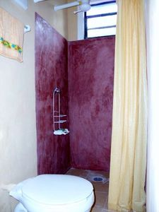 En suite shower and toilet