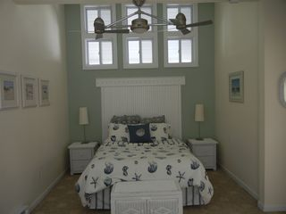 Clinton house photo - Master Bedroom- high ceilings and private en suite bathroom with shower