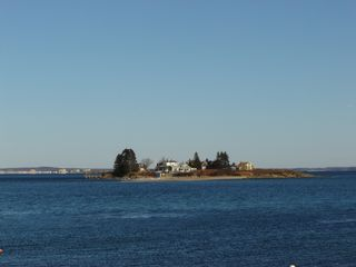 Biddeford house photo - Basket Island from the deck