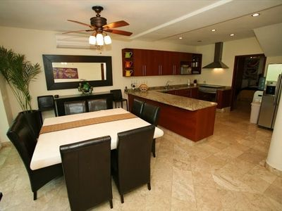 High End Kitchen and Dining Room, Villa has outdoor dining too