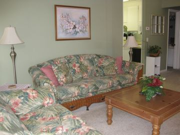 Living room with sofabed and love seat