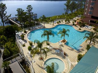 Lake Buena Vista condo photo - Pool and Nature Walk to Lake Bryan