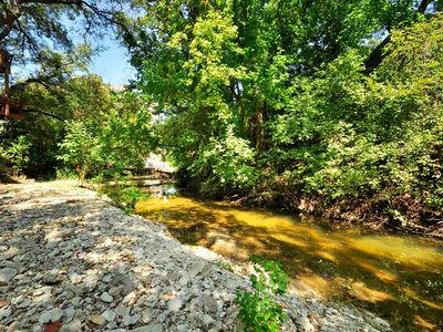 Austin house rental - Creek runs behind the house