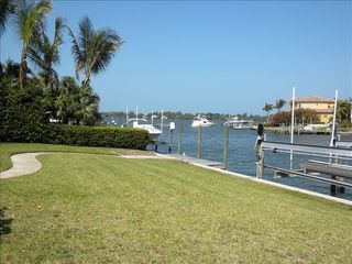 Sarasota house photo - View of Intercoastal Waterway from backyard/dock