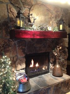 Very Warm & Cozy Fireplace!