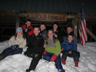 Milan cabin photo - Happy guests after a fun day in the snow