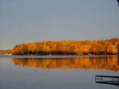 Fall view of beautiful Long Lake