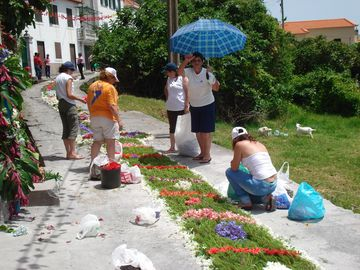 Laying of a flower carpet in Arco da Calheta