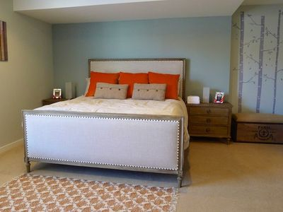 Master Bedroom - King sized bed and plush mattress. Largest size unit in complex