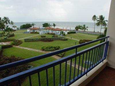 Cabo Rojo condo rental - Garden-pool-beach view from private balcony