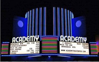 Take in a movie at the Academy Theater.  They offer childcare.
