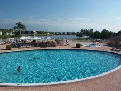Beautiful pool & active clubhouse a short walk from condo