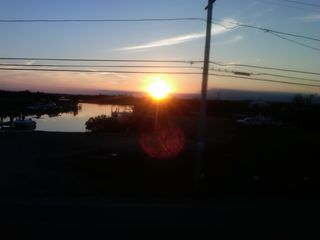 Charlestown house photo - Sunset over Ningret Pond from beach house deck.