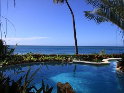 Tobago apartment rental - The Pool and view of the Caribbean Sea
