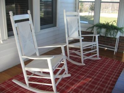 Enjoy some R & R on the sun-filled, enclosed front porch.