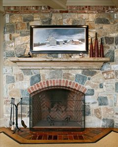 Five Wood-Burning Fireplaces