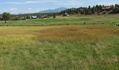 Nearby view of local golf course and pagosa peak in the background.