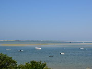 View to the East of Chatham Harbor, North Beach and the Atlantic Ocean.