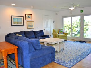 Bethany Beach house photo - Cozy family room with cove view has plenty of seating (even some bean bags!).