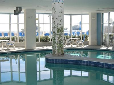 One of the two indoor heated pools