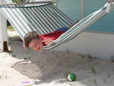 Relax on One of Two Hammocks