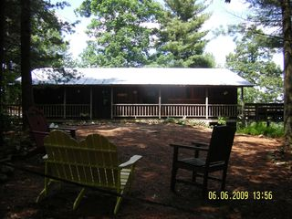 Meadows of Dan cabin photo - Back of Cabin with Outside Seating Meadow View